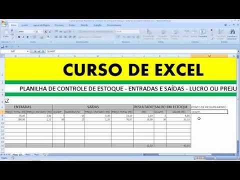 Excel Planilha de controle de estoque Entrada e saída de produtos e Vendas lucro prejuízo Materiais