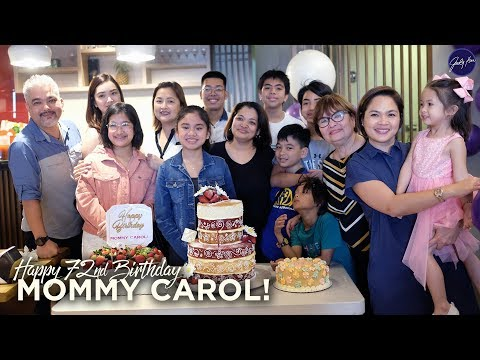 Mommy Carols 72nd Birthday Celebration | Judy Ann Santos