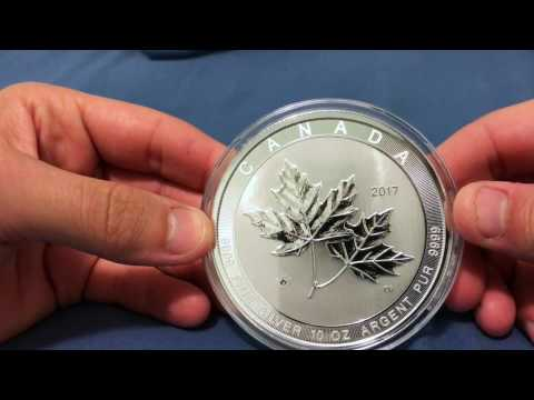 2017 10 oz Canadian Silver Magnificent Maple Leaf Coin