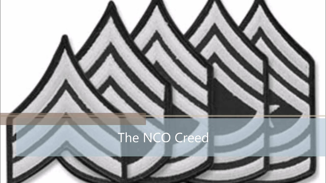 The NCO Creed - YouTube