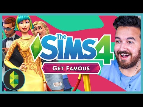 The Sims 4 GET FAMOUS Expansion REACTION (I'm in the trailer!)