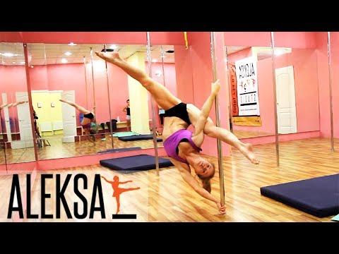 Флаг  - Pole Dance (Pole Sport - Пол Денс) от Елены Мининой (Olena Minina) - танец на пилоне.