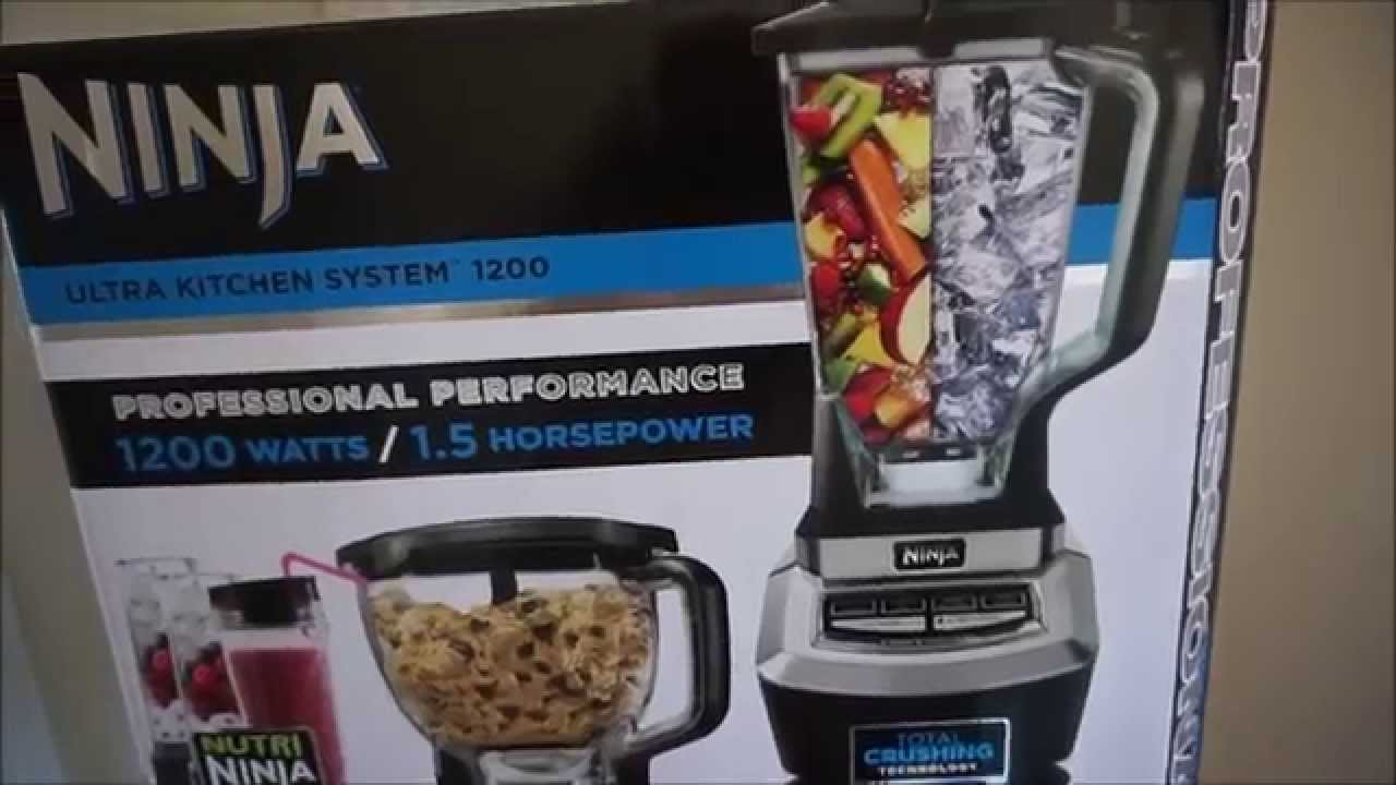 ninja ultra kitchen system 1200 - unboxing and review - youtube
