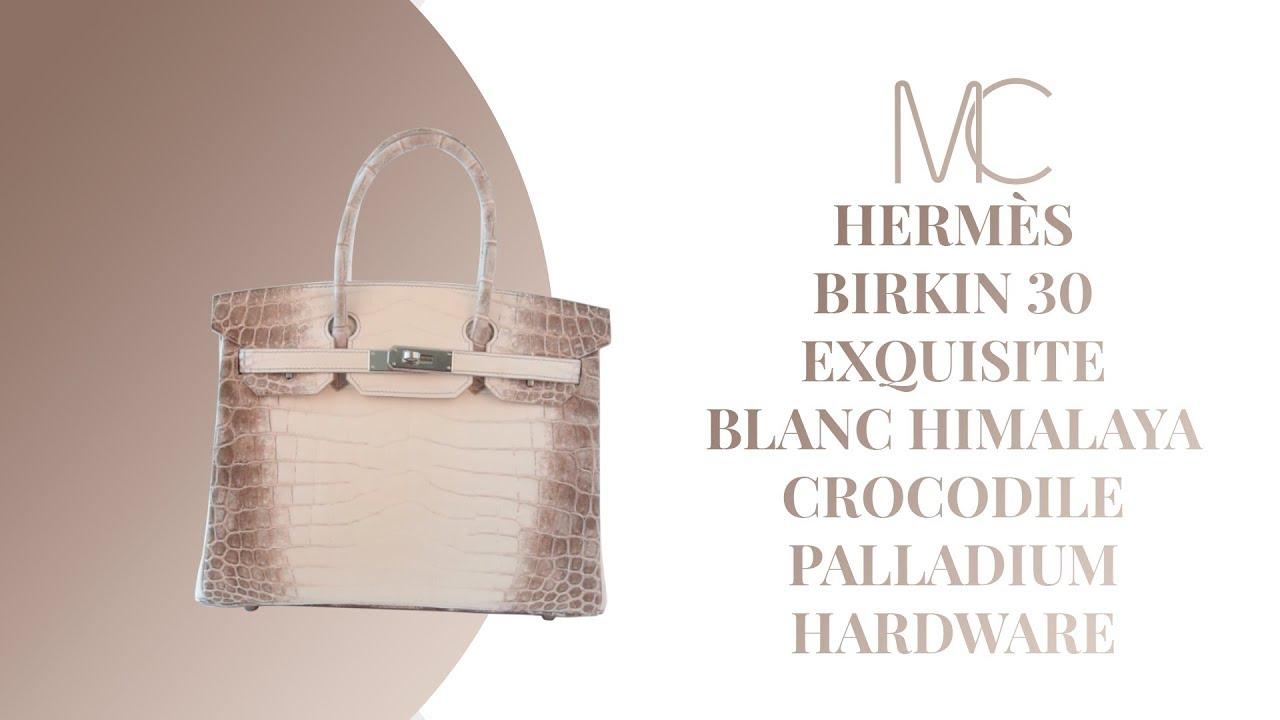 1a961979e7a4 MIGHTYCHIC • HERMÈS Birkin 30 Exquisite Blanc Himalaya Crocodile Palladium  Hardware