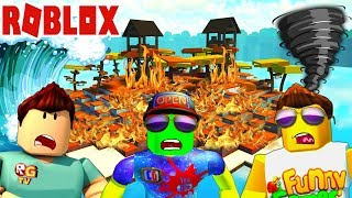 Survival CRAZY island in ROBLOX! Joint adventures with Funny Games TV and Roblox Games TV