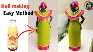 #Doll#How to make Doll from glass bottle#How to turn glass bottle into beautiful Doll#African Doll