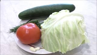 Такой салат готовлю каждый день и не надоедает. Простой салат из капусты для правильного питания