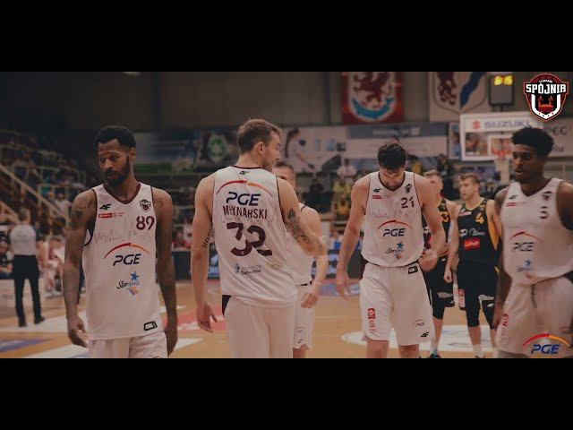 Skrót meczu PGE Spójnia Stargard - Trefl Sopot