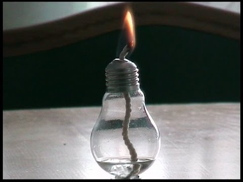 How To Make A Candle Of The Bulb Youtube