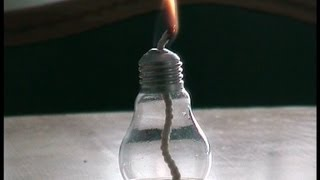 How to make a candle of the bulb