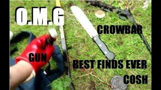 GUNS, MACHETE & MORE found Magnet Fishing