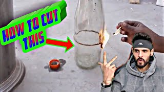 how to cut glass bottles at home without a glass cutter