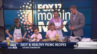 Kids Cook Real Food does Easy & Healthy Picnic Recipes on the News