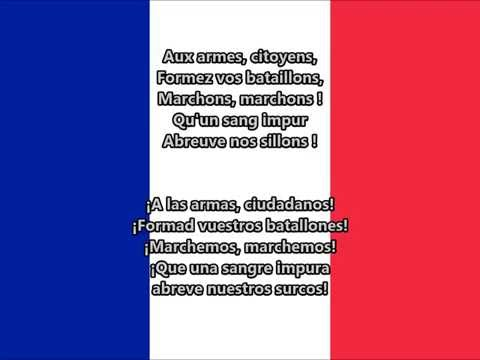 Himno nacional de Francia - La Marsellesa (FR, ES lyrics)