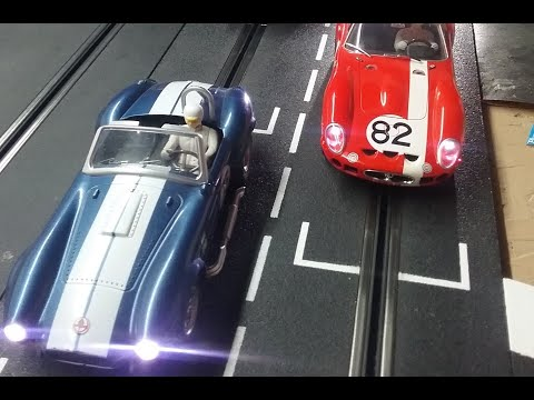 Digital 1/24 slot car racing- Ford vs. Ferrari