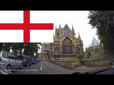 Driving in England -- From Cambridge to Lincoln (Cathedral) 2 hours