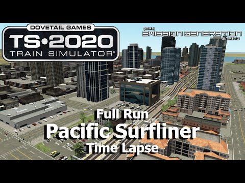 Pacific Surfliner - Time Lapse - Train Simulator 2020 |