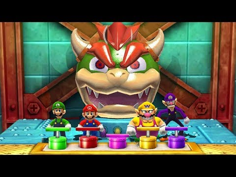 Mario Party The Top 100 MiniGames - Mario Vs Luigi Vs Wario Vs Waluigi (Master CPU)