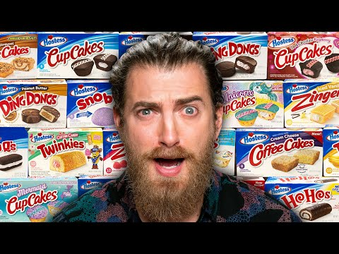 We Try EVERY Hostess Cake Flavor - Good Mythical Morning