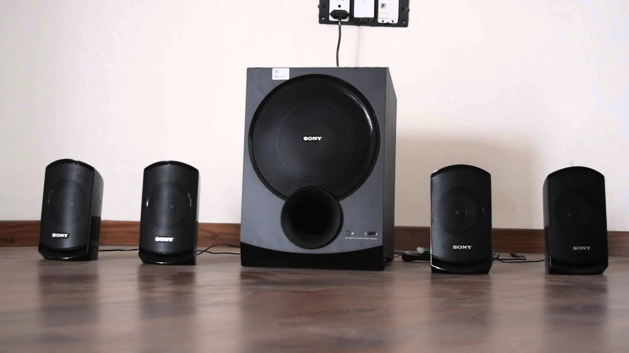 Image result for Sony SA-D100 4.1 Multimedia Speakers with Bluetooth (Black