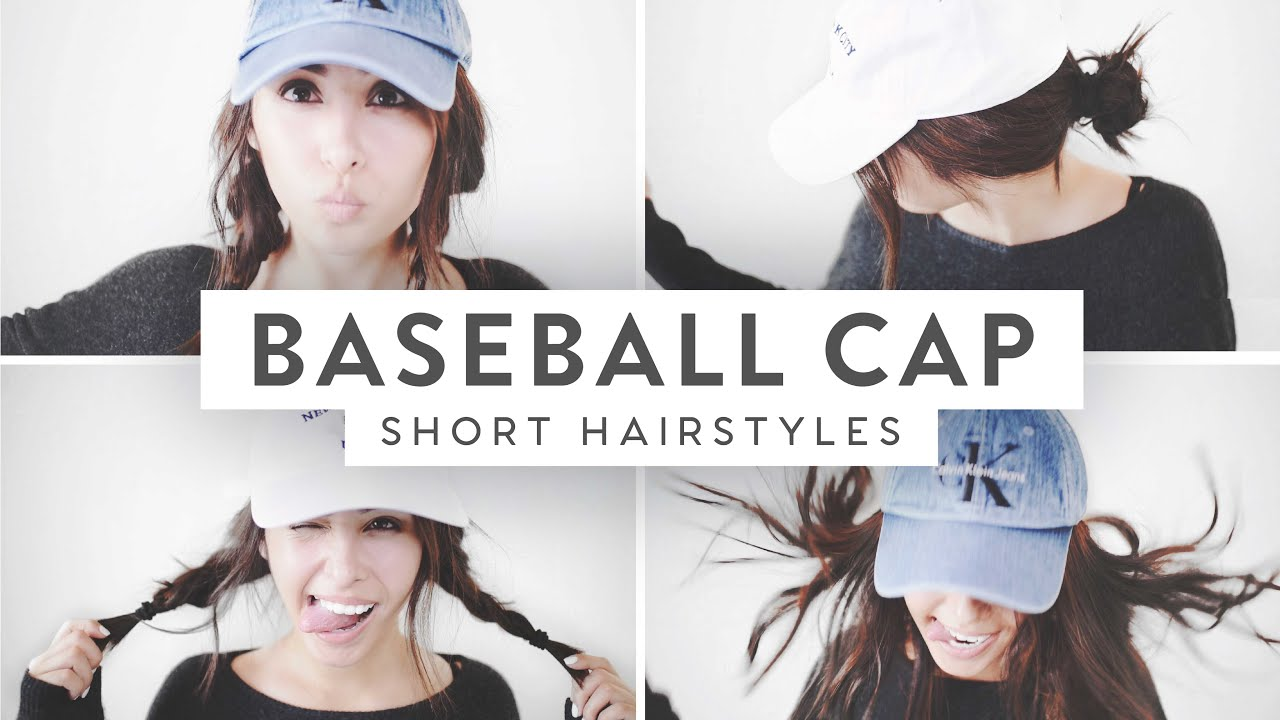 3 Baseball Cap Hairstyles! Medium Short Hair ♡ YouTube