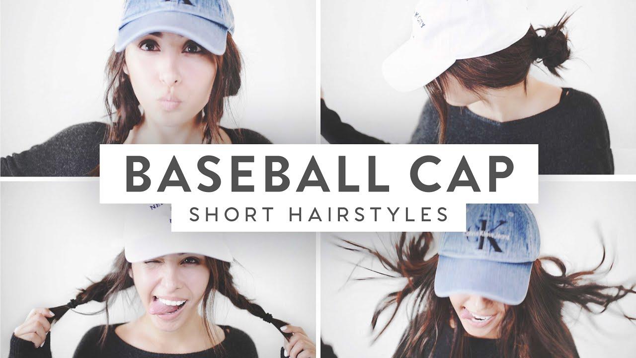 3 baseball cap hairstyles! | medium short hair ♡