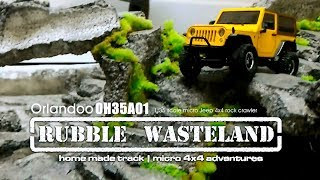 Rubble Wasteland DIY track - Orlandoo OH35A01  1:35 scale micro Jeep
