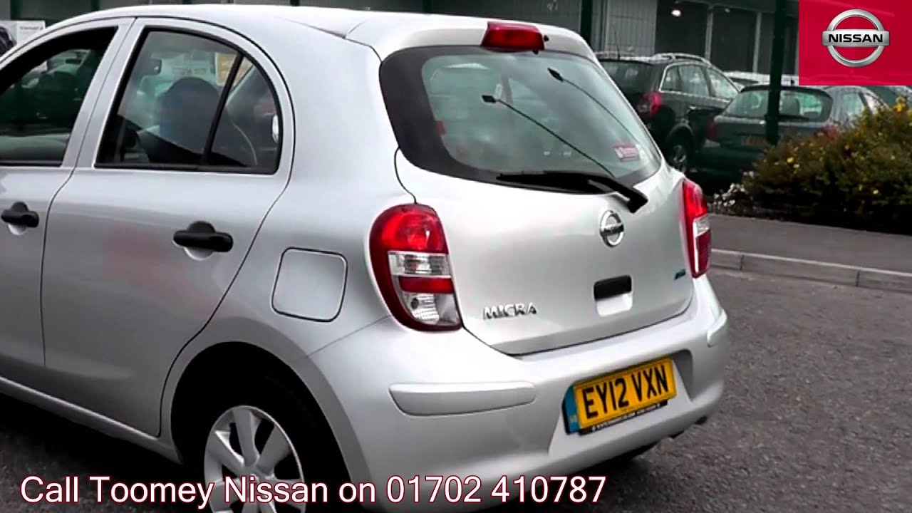 2012 nissan micra visia universal silver ey12vxn for sale at toomey nissan southend youtube. Black Bedroom Furniture Sets. Home Design Ideas
