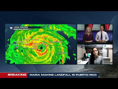 Interview with the National Weather Service in San Juan as Hurricane Maria makes landfall