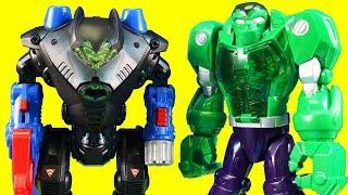 Imaginext Mohawk Dude ! Hulk Robot Vs. Batman Batbat Robot ! Superhero Toys