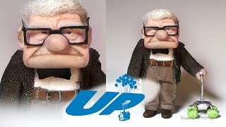 Mr. Carl Fredricksen Inspired Doll - Polymer Clay Tutorial (Disney
