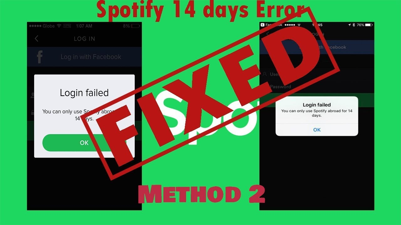 Fix Spotify abroad Error after 14 or 15 days of use within a Minute    Method-2      HINDI   