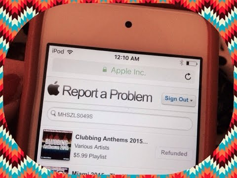 Refund songs from iTunes: How i did (iPod)