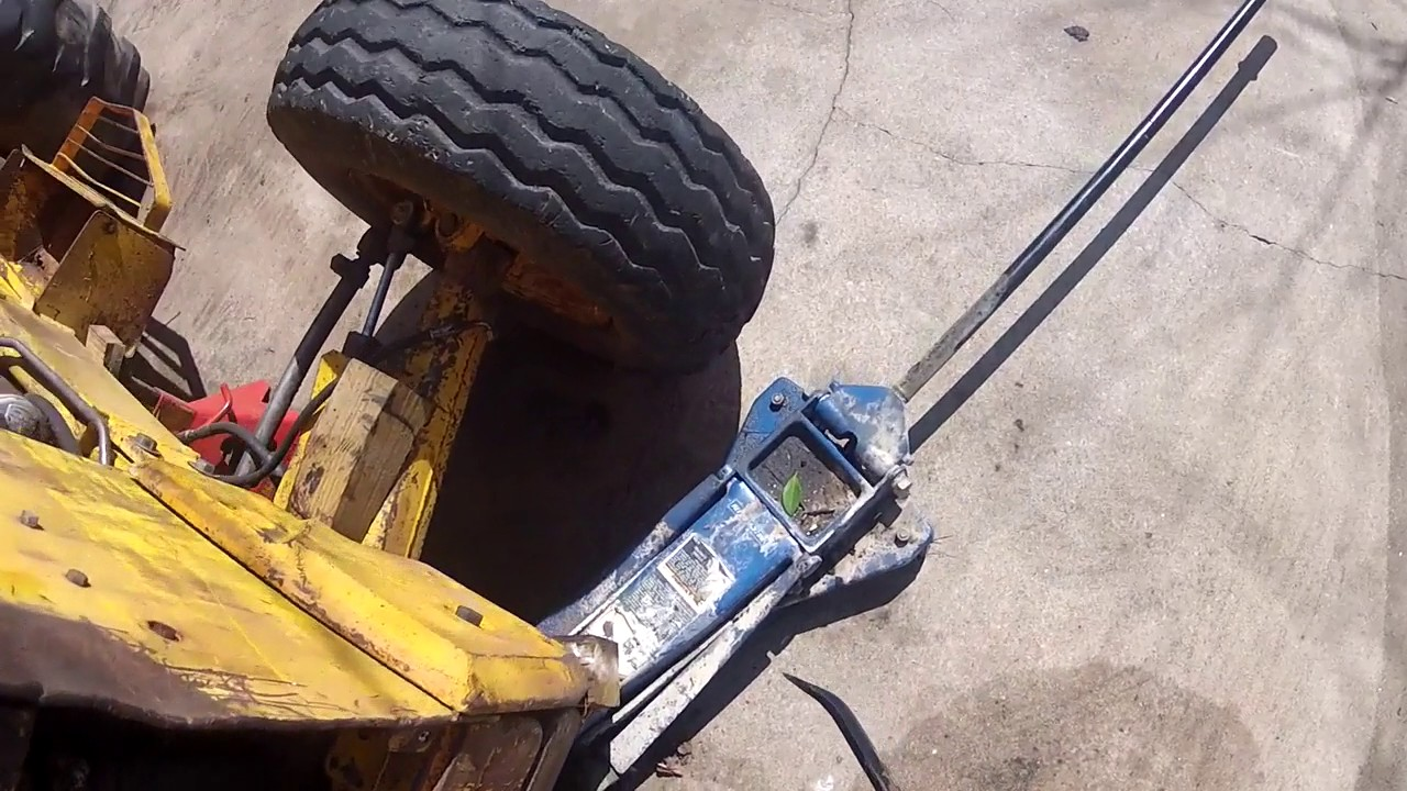 medium resolution of 1981 ford 555 backhoe how to get the hood off of the backhoe