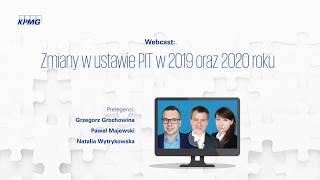 Webcast: Zmiany w ustawie PIT w 2019 oraz 2020 roku