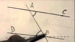 Теорема о пересечении двух параллельных прямых третьей