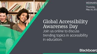 How to use industry standard LMS features to create accessible courses: Blackboard MOOC