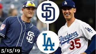 San Diego Padres vs Los Angeles Dodgers Highlights | May 15, 2019