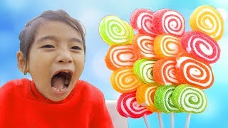 Baby kid takes lollipops tantrum crybaby Learn colors Finger Family kid song video