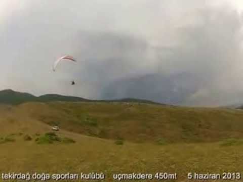 Nedim Aksu Uçmakdere 450 m.de soaring