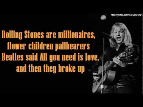 Larry Norman - Reader's Digest (Lyrics On Screen Video HD) Classic Rock and Roll