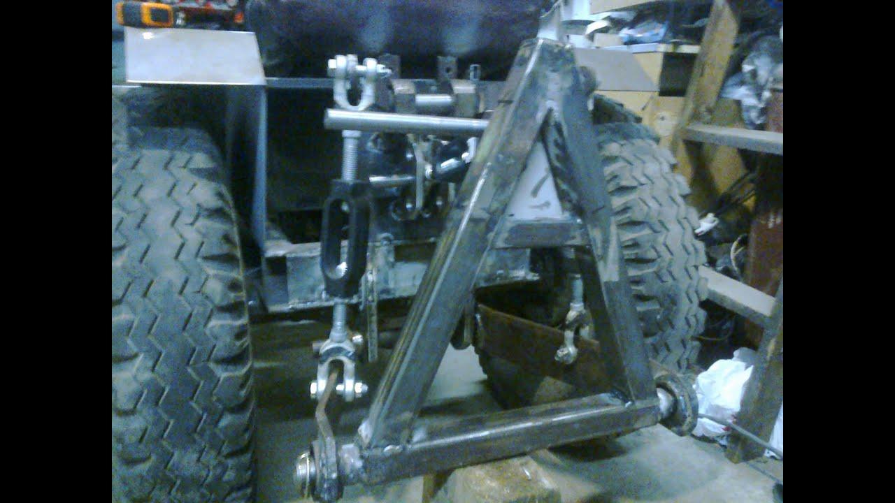 Мини трактор, задняя навеска (подробно)