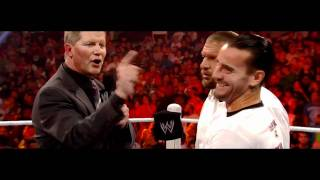 ☆ CM Punk & HHH & Laurinaitis Funny Moment * WWE Raw 09/19/11 * ☆