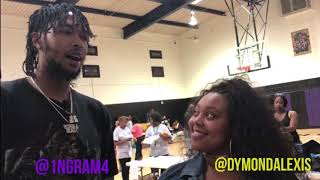 LA Lakers' Brandon Ingram Returns Back Home for Back to School Drive