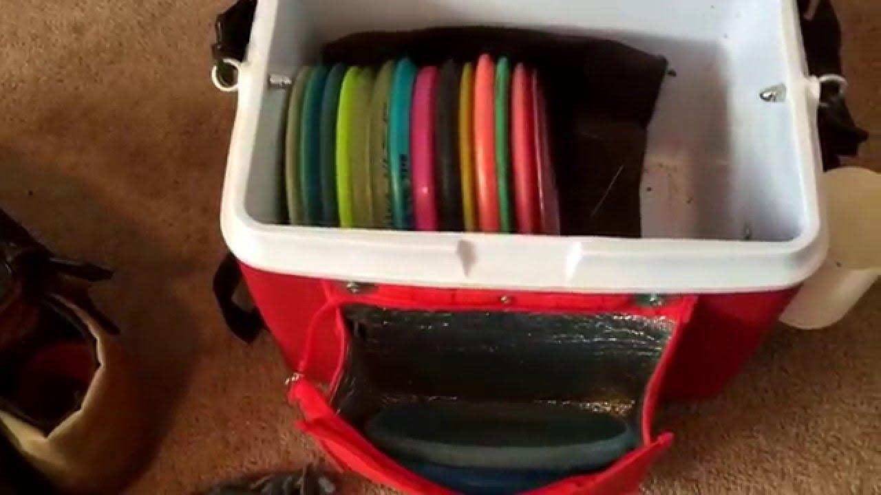 Homemade Cooler Disc Golf Bag