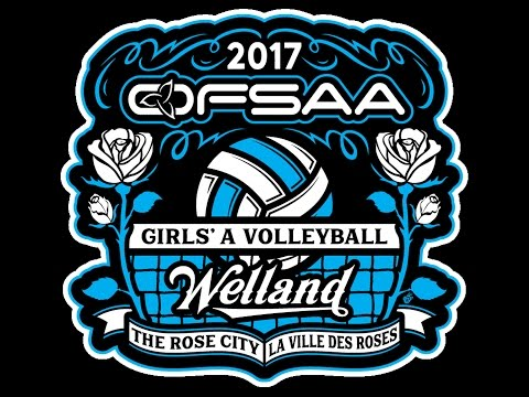 OFSAA GIRLS A VOLLEYBALL 2017 - D2G5 - AHS vs UFA - Consolation QF1