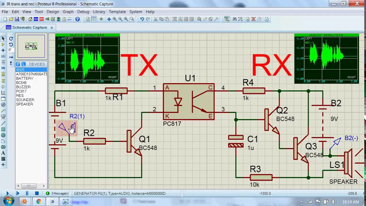 hight resolution of voice transmitter and receiver circuit