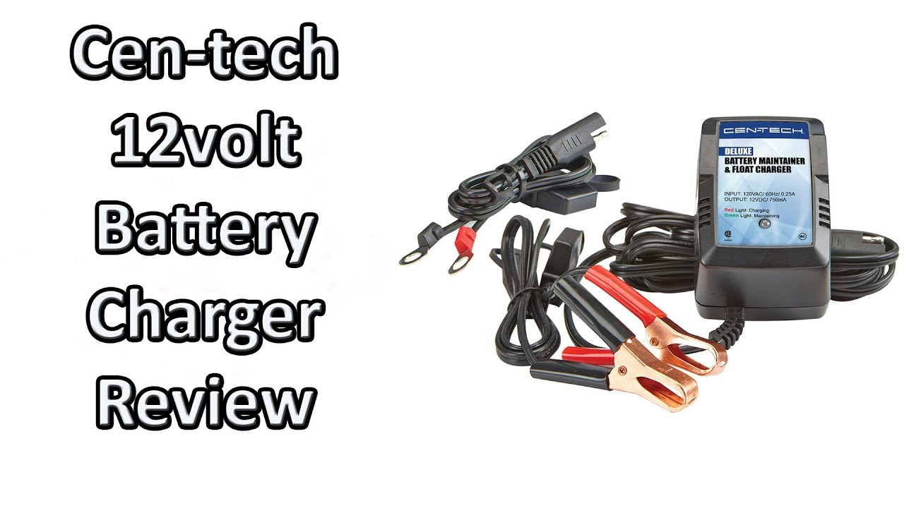 Harbor Freight Cen Tech Deluxe 12 Volt Battery Maintainer Float Charger Review Youtube