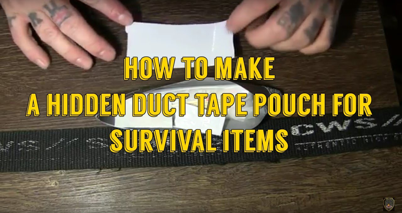 how to make a duct tape survival belt pouch youtube