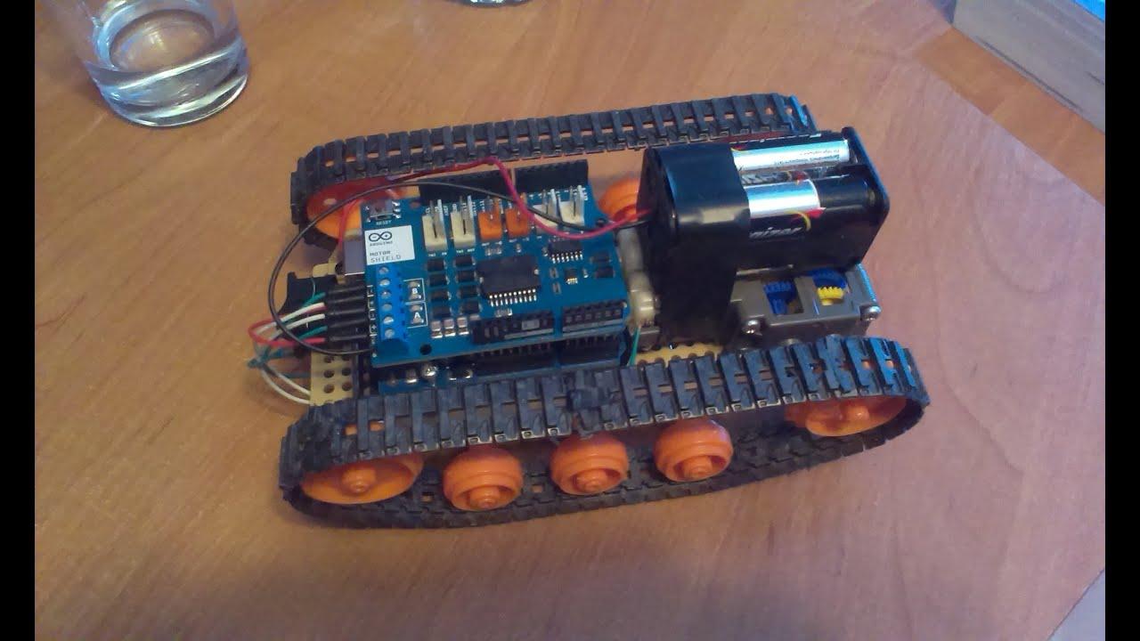 Arduino robot tank sterowanie przez komputer c youtube